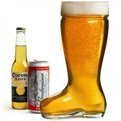 Verre géant bière botte pour une soirée entre amis
