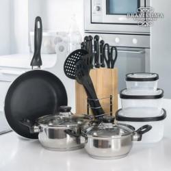 Set de cuisine Bravissima Kitchen (17 pièces) pratique et élégant dans votre cuisine