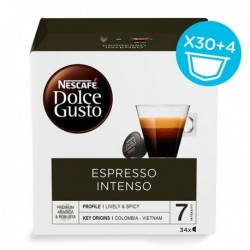 Capsules de café Nescafé Dolce Gusto (34 pièces) Espresso intenso