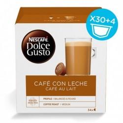 Capsules de café Nescafé Dolce Gusto (34 pièces) Café au lait