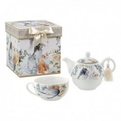 Jeu de Théière Tea For One 116182 chats (3 pièces)