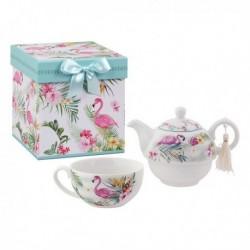 Jeu de Théière Tea For One 116113 Flamant rose (3 pièces)