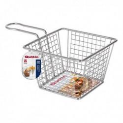 Panier de présentation pour aliments Quttin Carré acier inoxydable (12.5 x 12.5 x 8.5 cm)