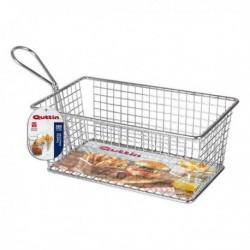Panier de présentation pour aliments Quttin Rectangulaire acier inoxydable (20 x 12 x 8 cm)