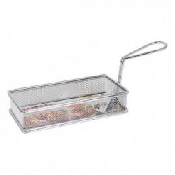 Panier de présentation pour aliments Quttin Rectangulaire Acier inoxydable (21.5 x 10.5 x 4.5 cm)