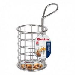 Panier de présentation pour aliments Quttin Rond acier inoxydable (diam 7 x 9 cm)