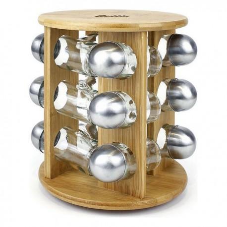 Arbre à épices en bambou Quttin (12 pièces) (19 x 19 x 23 cm) fonctionnel