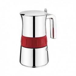 Cafetière Italienne BRA Elegance Red (10 tasses) pratique et élégante