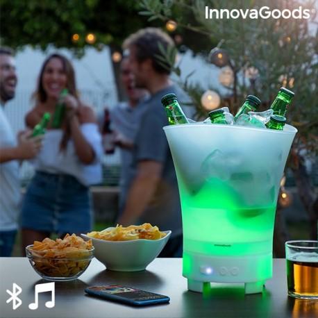 Bac à glaçons LED avec haut-parleur rechargeable Sonice Innovagoods élégant pour les soirées entre amis