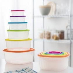 Ensemble de 6 boîtes à lunch Colors Eh élégant et pratique