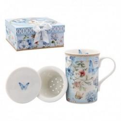 Tasse avec filtre pour infusions 116229 Papillon Bleu