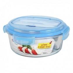 Boîte à lunch avec compartiment à couverts Quttin 1300 cc (diam 21 x 9