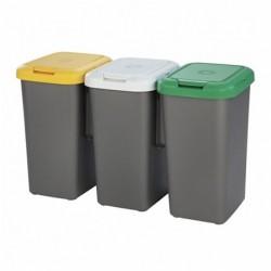 Poubelle recyclage Tontarelli Plastique gris (77 x 32 x 47.5 cm)
