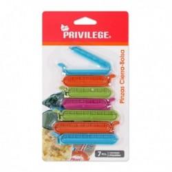 Pinces ferme-sacs Privilege (7 pièces)