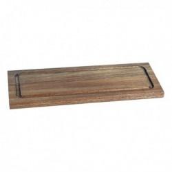 Planche à découper Acacia Rectangulaire (33 x 13 x 1,5 cm) fonctionnelle