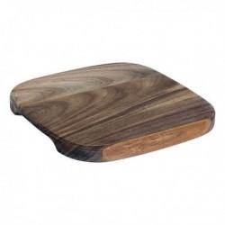 Planche à découper Acacia Carré (17,5 x 17,5 x 1,5 cm) fonctionnelle