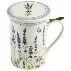 Tasse avec filtre pour infusions Fleurs Lavande élégante