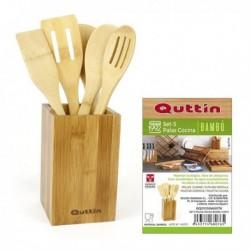 Set d'Ustensiles de Cuisine Quttin Bambou (5 pièces)