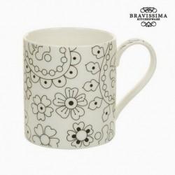 Tasse Porcelaine Noir Beige - Collection Kitchen's Deco élégante