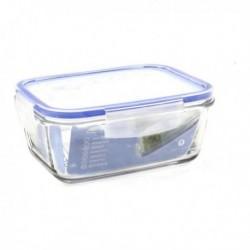 Boîte à lunch hermétique Borgonovo Transparent Rectangulaire pratique