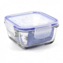 Boîte à lunch hermétique Borgonovo Transparent Carré pratique et fonctionnelle