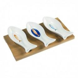 Assiette Bord De Mer Porcelaine (24 x 13 x 4 cm) élégante
