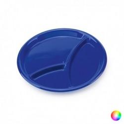 Plateau avec Compartiments (diam 25,5 cm) différents coloris