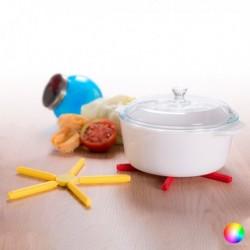 Dessous de Plat Pliable (diam 21,5 x 21,5 x 1,2 cm) différents coloris