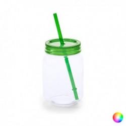 Carafe avec Couvercle et Paille (600 ml) 144820 différents coloris