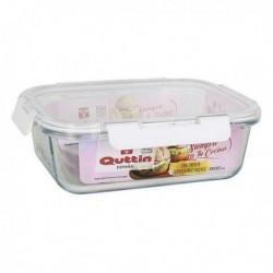 Boîte à lunch hermétique Quttin 1500 ml Rectangulaire (23,4 x 17,8 cm)