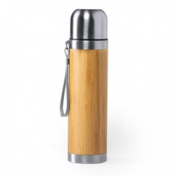 Thermos 420 ml Bambou Acier inoxydable 146603 fonctionnel