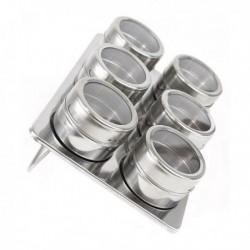 Ensemble de range-épices magnétiques Quttin Acier inoxydable fonctionnel