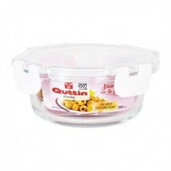 Boîte à lunch hermétique Quttin Ronde Acrylique Transparent