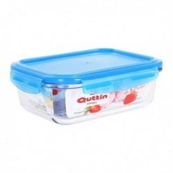 Boîte à lunch hermétique Quttin Rectangulaire Verre Bleu