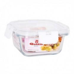 Boîte à lunch hermétique Quttin Carré Acrylique Transparent