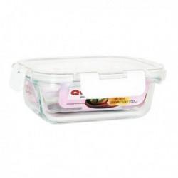 Boîte à lunch hermétique Quttin Rectangulaire Acrylique Transparent