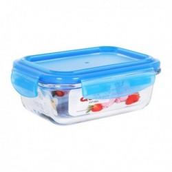Boîte à lunch hermétique Quttin Rectangulaire Verre Bleu fonctionnelle et pratique