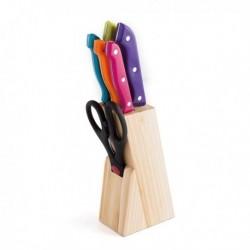 Ensemble de couteaux de cuisine et support Quid Marbore (6 pièces) fonctionnel