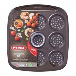 Plat pour Four Pizza Mini Pyrex Asimetria acier galvanisé (9 Compartiments) (16 x 16 cm) fonctionnel