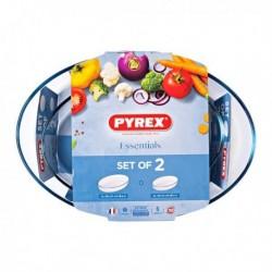 Ensemble de plats de cuisson au four Pyrex Essentials Verre borosilicaté (2 pièces)