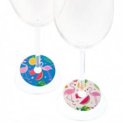 Identificateur de Verres Koala Flamingo (6 pièces) Plastique fonctionnel