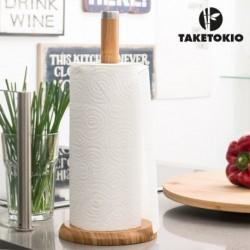 porte rouleau de cuisine bambou taketokio élégant