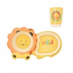 Assiette pour enfant Quid Go Peques Bambou (3 pièces) fonctionnelle