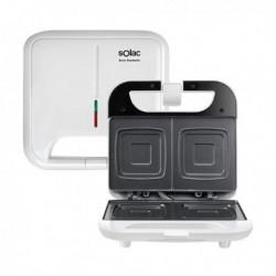 Appareil à Sandwich Anti-adhérent Solac SD5053 750W Blanc fonctionnel