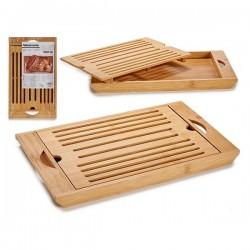Planche à pain en Bambou (22 x 2,8 x 36,5 cm) fonctionnelle