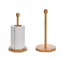 Porte-rouleaux de Cuisine Bambou fonctionnel