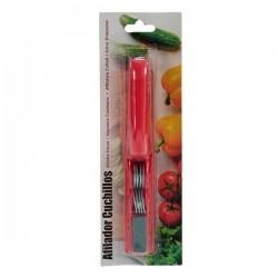 Affûteuse de couteaux Rouge (2,5 x 4 x 19 cm) fonctionnelle