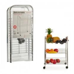 Chariot à légumes Métal (26 x 63 x 40 cm) 3 niveaux pratique