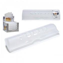 Porte-rouleaux de Cuisine Plastique Transparent (33,6 x 5,5 x 9 cm) fonctionnel