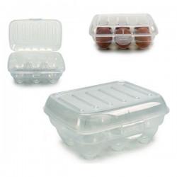 Boîte à oeufs Transparent Plastique Transparent (13 x 7,5 x 18 cm) fonctionnelle